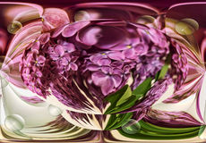 Abstraction of lilac and transparent spheres Royalty Free Stock Image