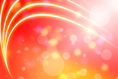 Abstraction lines. On orange background with light Royalty Free Stock Image
