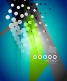 Abstraction moderne de techno pointillée par vecteur Images libres de droits