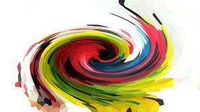 Abstraction of a multicolored whirlwind Royalty Free Stock Photography