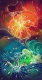 abstraction multicolore florale illustration de vecteur