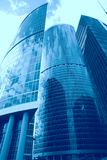 Abstraction, office skyscrapers Royalty Free Stock Image