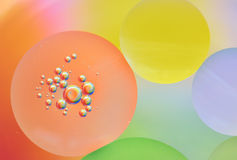 Abstraction, oil bubbles in water Royalty Free Stock Photography