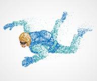 Abstraction, parachutiste, mouche illustration stock