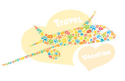 Abstraction - a plane and travel Stock Photo