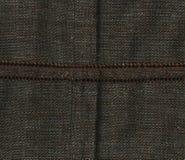 Abstraction pour le fond tissu de brun foncé avec la couture en vrac Photographie stock libre de droits