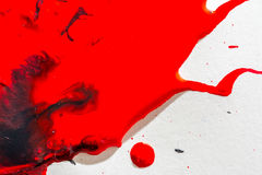 Abstraction of red and black paint watercolor texture. Royalty Free Stock Photography