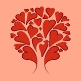 Abstraction. Red_hearts. stock illustration
