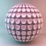 Abstraction rose de la sphère 3d illustration libre de droits