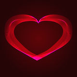 Abstraction rouge de coeur sur un fond foncé Photo stock