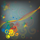 Abstraction of scrolls. Colorful abstract illustration with swirls vector illustration