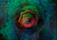 Abstraction. The seeing wall. stock illustration