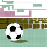Abstraction with a soccer ball Stock Photography