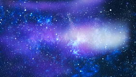 Abstraction space background for design. Mystical light. Deep space. High definition star field background Stock Photos