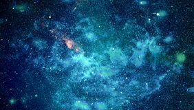 Abstraction space background for design. Mystical light. Deep space. High definition star field background Stock Image
