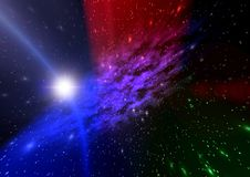 Abstraction space. mistical light Royalty Free Stock Photos