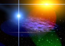 Abstraction space. mystical light stock illustration