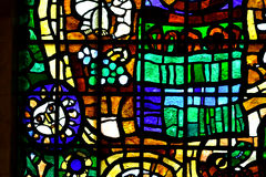 Abstraction stained glass Stock Photo