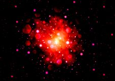 Abstraction starry background. For various design artworks Royalty Free Stock Image