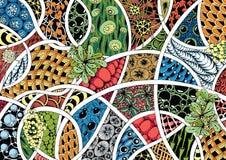 Abstraction style zentangle Stock Image