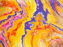 Abstraction sur l'art de fluide de contraste photo stock