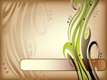 Abstraction with swirls stock illustration