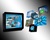 Abstraction tablets. Abstraction which shows tablets and multiple images for designers for various necessities Royalty Free Stock Photo