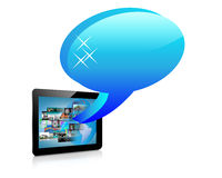Abstraction tablets. Abstraction which depicts a tablet and a few images for designers for various necessities Stock Image