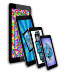 Abstraction tablets. Abstraction which shows tablets and multiple images for designers for various necessities Stock Photo
