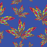 Abstraction_Texture,无缝的样式,花,叶子 库存例证