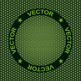 Abstraction, texture of darkgreen hexagons, rubber surface. Vector, Illustration Stock Photography