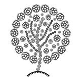 Abstraction Tree of gears. Illustration in vector Stock Images