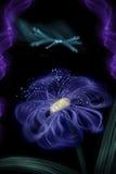 Abstraction une libellule sur une fleur lilas illustration de vecteur