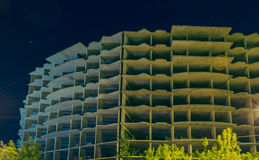 Abstraction. unfinished building Stock Image