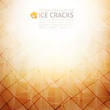 Abstraction. Vector geometric abstract background of ice cracks Royalty Free Stock Image
