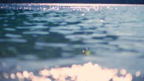 Abstraction. very close-up of sea water and reflection of sun rays, radiance. stock video