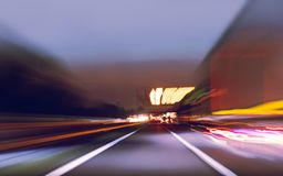 Abstraction view of the highway blurred at speed stock image