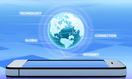 Abstraction wireless technology Stock Image
