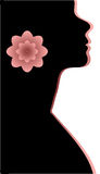 Abstraction WOMAN silhouette black Royalty Free Stock Photo