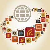 Global world7 Stock Image