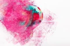 Abstractionism kreativitet, modern konst, färgblandning Arkivfoton