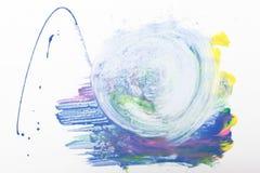 Abstractionism modern konst, idérik målning Royaltyfri Bild
