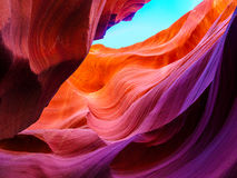 Abstractions en canyon d'antilope, Navajo, Arizona Image libre de droits