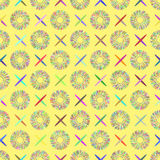 Abstractly seamless pattern made of colorful elements Royalty Free Stock Images