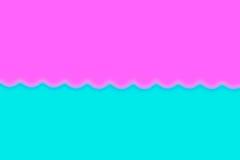 Abstracto alise el fondo azul y rosado de la falta de definición con el corazón Fotos de archivo libres de regalías