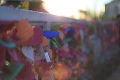 Abstracto, empañado, etiqueta del amante, brillo del sol en Guam fotografía de archivo libre de regalías
