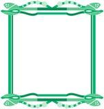 abstractos bordes verdes Zdjęcia Royalty Free
