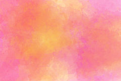 Abstractro背景几主要地粉红彩笔和黄色与 库存图片
