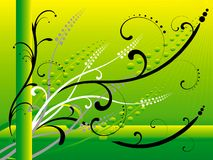 Abstracts. Yellow, black and green abstract Royalty Free Stock Photography
