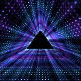 Glowing Triangle Tunnel. Abstracts Futuristic Background. Royalty Free Stock Image